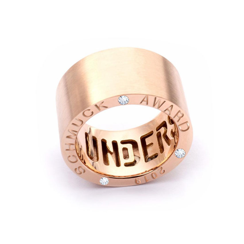 understatement ring das original rose gold